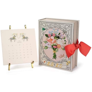 2019-2020 Calendar with Gold Easel