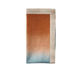 Dip Dye Midnight and Copper Napkins
