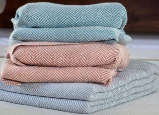 Penobscot (Natural) Cotton Blanket