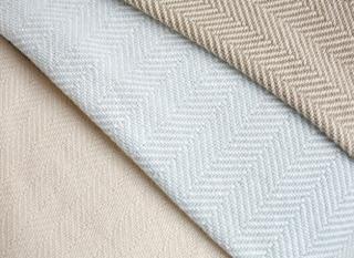 Penobscot (White) Cotton Blanket